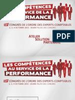 Atelier Solutions Partenaire Formation  - 3 et 4 Octobre 2013 au Congrès de l'Ordre des experts-comptables