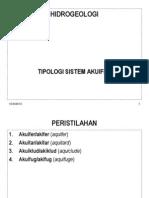 Minggu 3 Tipologi Sistem Akuifer