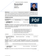 Resume Operations Marketing 2009