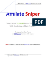 Affiliate Sniper Guide - How I Made $3,165.85 In Just A Few Weeks With One Dating Affiliate Program!