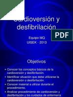 17.Cardioversión y desfibrilación 2013