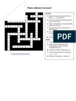Titanic Lifeboats Crossword