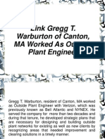 Gregg T. Warburton of Canton, MA Worked As Outside Plant Engineer