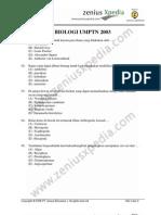 biologi UMPTN 2003