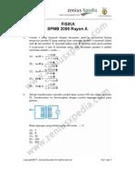 Fisika SPMB 2006 Rayon A