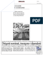 Rassegna Stampa 09.10.2013