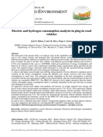 Electric and Hydrogen Consumption Analysis in Plug-In Road Vehicles