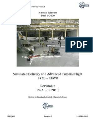 Majestic Software Dash 8 Delivery Flight REV 2 | Transponder