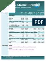 Weekly Market Briefing (October 7, 2013)