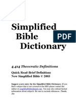 Simplified Bible Dictionary: 4,414 Theocratic Definitions