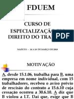 Curso de  ESPECIALIZAÇÃO EM DT - FDUEM - 14 a 18.03.11 - 1