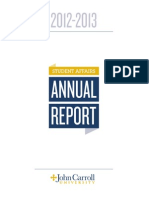 Student Affairs Annual Report, 2012-2013