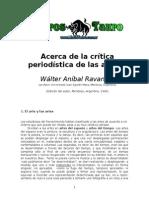 Ravanelli, Walter Anibal - Acerca de La Critica Periodistica de Las Artes