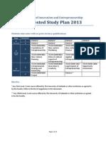 BIE 2013 Study Plan