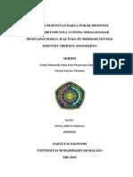 Analisis Penentuan Harga Pokok Produksi Dengan Metode Full Costing