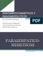 PARASIMPATICOMIMETICOS Y PARASIMPATOLITICOS.pptx