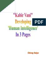 KabirVani-DevelopingHumanIntelligenc