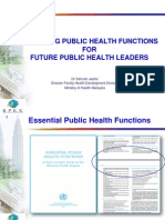 Fulfilling Public Health Functions for Future Public Health Leaders