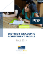 DMPS District Academic Achievement Profile - Fall 13