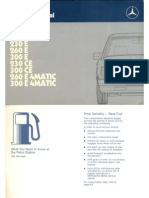 Mercedes Benz E, W124 Series Owners Manual