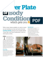 Power plate or body conditioning - which is best?