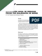 Declaración anual de personas físicas por enajenación de bienes