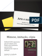 MURCHO, Desidério. Arte e mimese