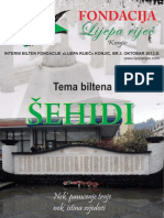 Bilten Fondacije Lijepa Rijec Br3, OKTOBAR 2013.G.