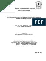 El Procedimiento Administrativo en Materia Aduanera, Desde Una Perspectiva Neoinstitucional