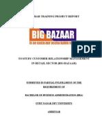 Customer Relationship Management in Retail Sector Big Bazaar