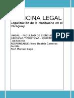 TP Medicina Legal Legalizacion de La Marihuana