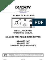 Carson Hailer SA-400-73_Manual