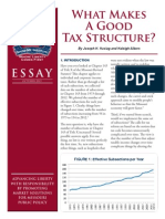 What Makes a Good Tax Structure