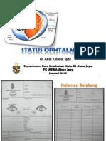 Status Ophtalmology