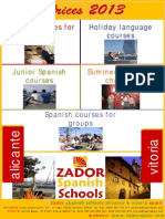 Spanish Courses Prices Zador Spain Language Schools_2013