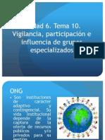 Vigilancia , participación e influencia de grupos especializados