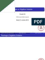 Maple et algèbre linéaire