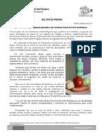 08/10/13 Germán Tenorio Vasconcelos llama Sso a Extremar Medidas de Higiene Para Prevenir Diarreas