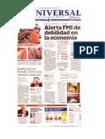 Planas de Periodicos Nacionales Mier 09 Oct 2013