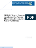 SIGTARP Use of Funds Audit