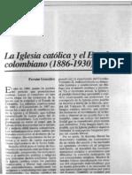 La Iglesia Catolica y El Estado Colombiano.1886-1930