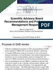 CIRM Scientific Advisory Board Recommendations