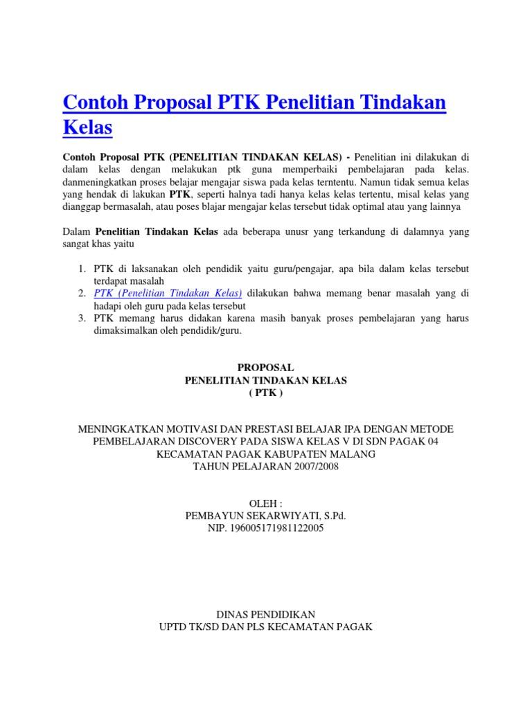 Contoh Proposal Ptk Docx