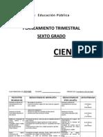 Ciencias Vi, i, II, III, Trimestr 2012