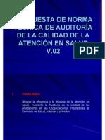 CALIDAD PROPUESTA DE NORMA TÉCNICA DE AUDITORÍA DE LA CALIDAD