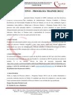 Edital Processo Seletivo 2013.2