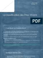 Bio11F - La Classification des Êtres Vivants