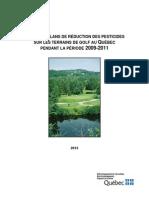 Bilan des plans de réduction des pesticides