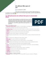 100 Aplicaciones de Software Libre Para El Comunicador