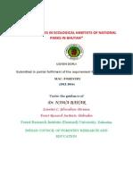 INVASIVE SPECIES IN ECOLOGICAL HABITATS OF NATIONAL PARKS IN BHUTAN